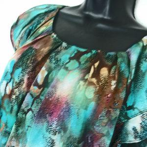 ZAC & RACHEL Women's Multi Color Print Cap-Sleeve